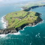 Old Head Golf Links from helicopter