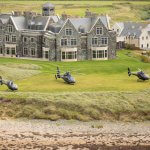 Helicopters landed at Doonbeg Golf Club