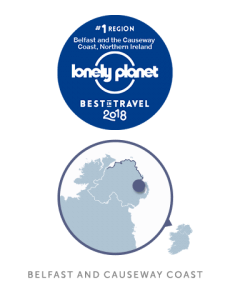 Lonely Planet Belfast Northern Ireland Map